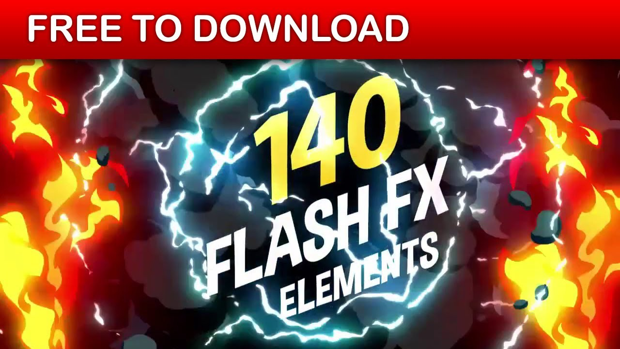 140 flash fx elements v2 | after effects template | free download.