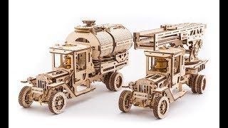 3D-пазлы Ugears: Механизированные деревянные игрушки