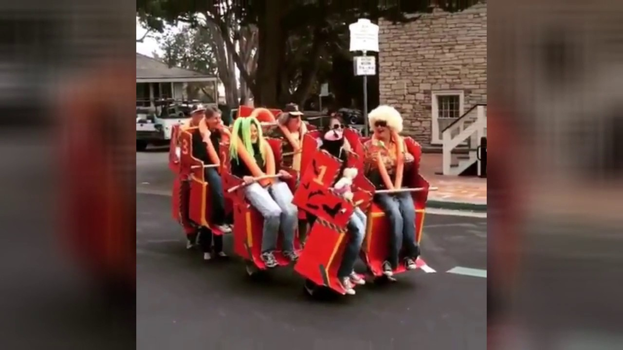 HALLOWEEN 2016: People Imitate Roller Coaster - Creative or What ...