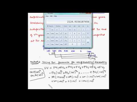 TVM - Future value of an uneven cash flow - Example 1