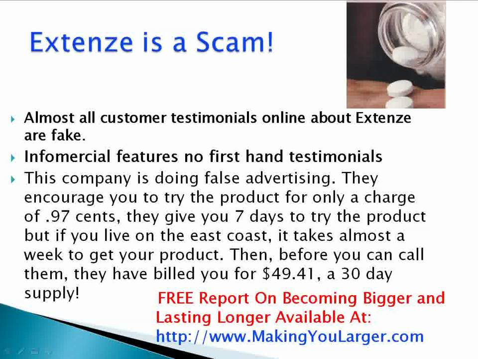 Extenze Free Trial Phone Number