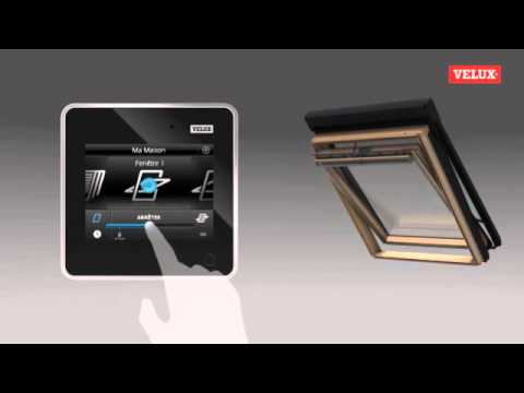 presentation fonctionnement ecran tactile velux krx 200 youtube. Black Bedroom Furniture Sets. Home Design Ideas