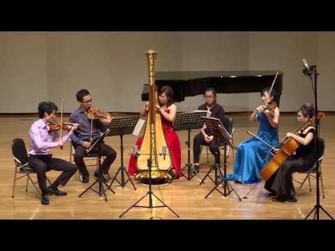 Jean Cras: Quintet for Harp, Flute, Violin, Viola, and Cello 1928, 4th movement: Tres Anime