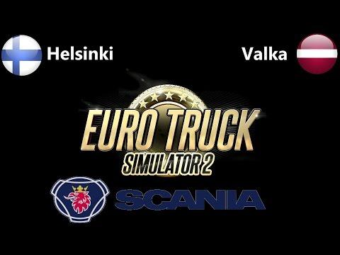 [Euro Truck Simulator 2] Helsinki, Finland to Valka, Latvia