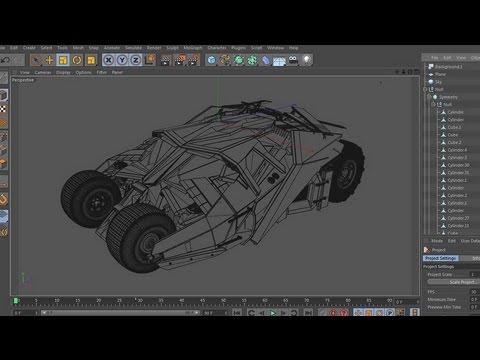 Tumbler batmobile tutorial cinema 4d youtube tumbler batmobile tutorial cinema 4d malvernweather Choice Image