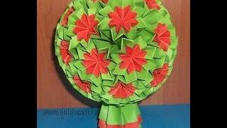 Как Сделать Из Бумаги Украшения Своими Руками. Кусудама Супершар. Модуль (ч. 1) Kusudama Venus(Подробно показываю и рассказываю, как сделать оригами модуль кусудамы Супершар своими руками. Из таких..., 2014-07-15T17:55:27.000Z)
