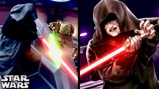 Why Did Sidious Run from Yoda and Try to Avoid a Lightsaber Duel in Episode 3? (Legends)