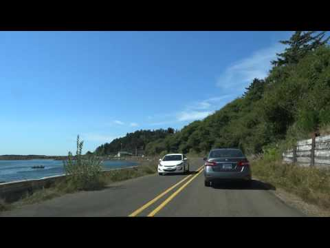 Oregon coast scenic time lapse drive from Cape Lookout to Cape Meares