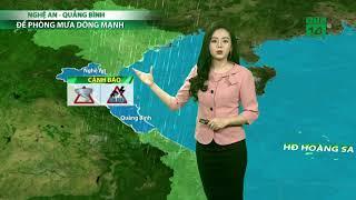 Thời tiết 6h 23/10/2019: Nghệ An- Quảng Bình cần cảnh giác có dông và gió giật mạnh   VTC14