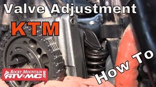 How to adjust the valves on a KTM Motorcycle