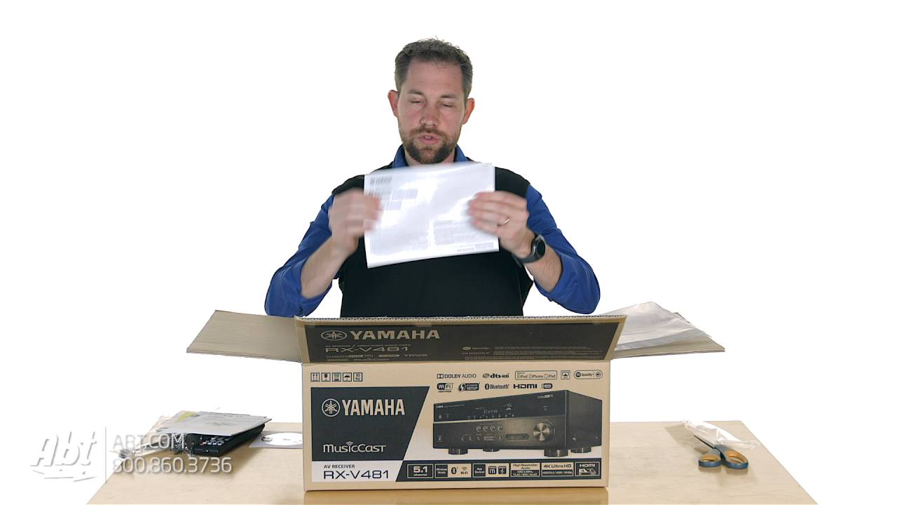 unboxing: yamaha 5.1 channel black network a/v receiver - rx-v481