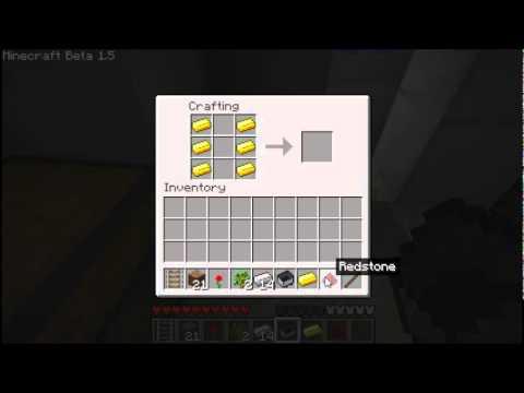 minecraft beta 1.5 - powered rails recipe - YouTube