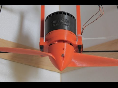 RC Plane with 3d-printed Motor and 3d-printed Propeller