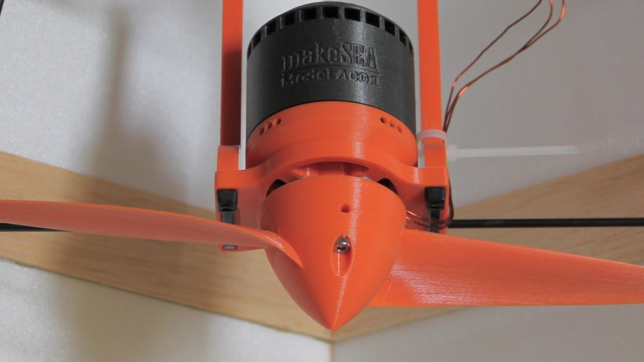 Rc Plane With 3d Printed Motor And 3d Printed Propeller