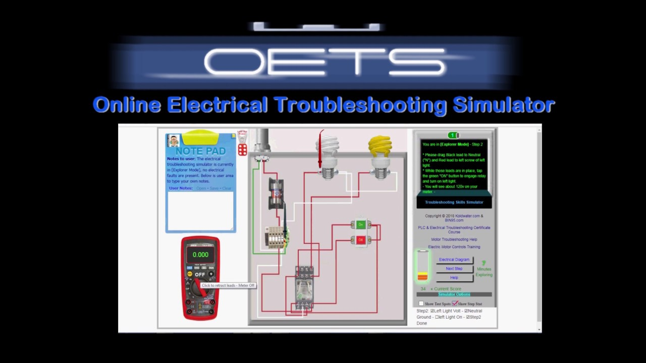 Free Online Electrical Troubleshooting Simulator Help on