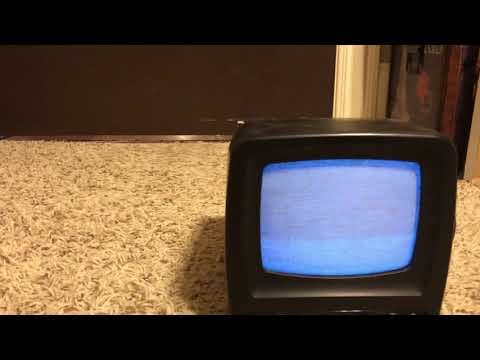 Jensen portable black and white tv