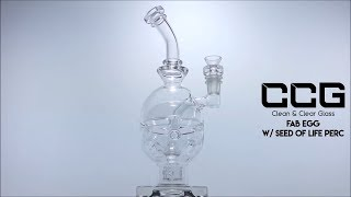 """CCG 9.5"""" Fab Egg w/ Seed of Life Perc"""