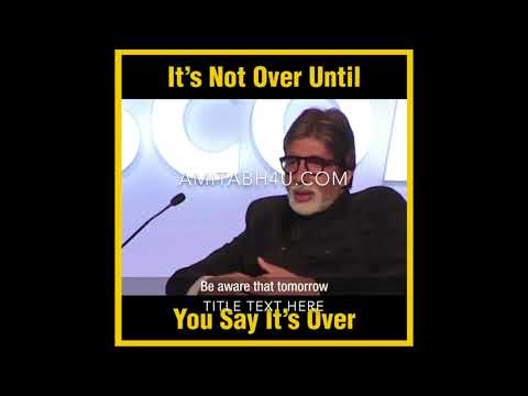 BigB learnt a valuable lesson