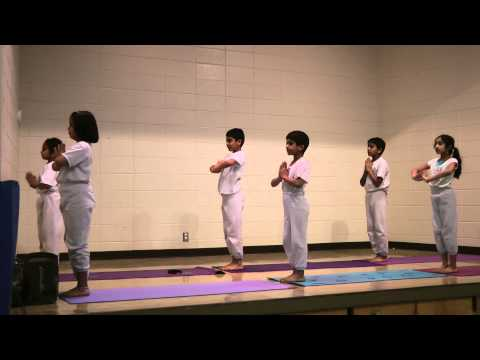 Yoga Demonstration, Willa Cather Elementary School,Omaha, USA,Feb 27th, 2014