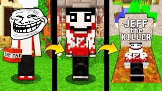 JAK TROLLOWAĆ JEFF THE KILLER W MINECRAFT! || MINECRAFT TROLL!