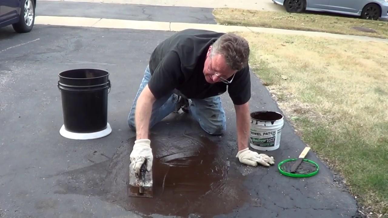 Pothole Repair Driveway Asphalt Patch Youtube