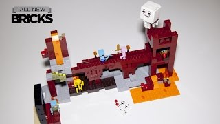 Lego Minecraft 21122 The Nether Fortress Speed Build