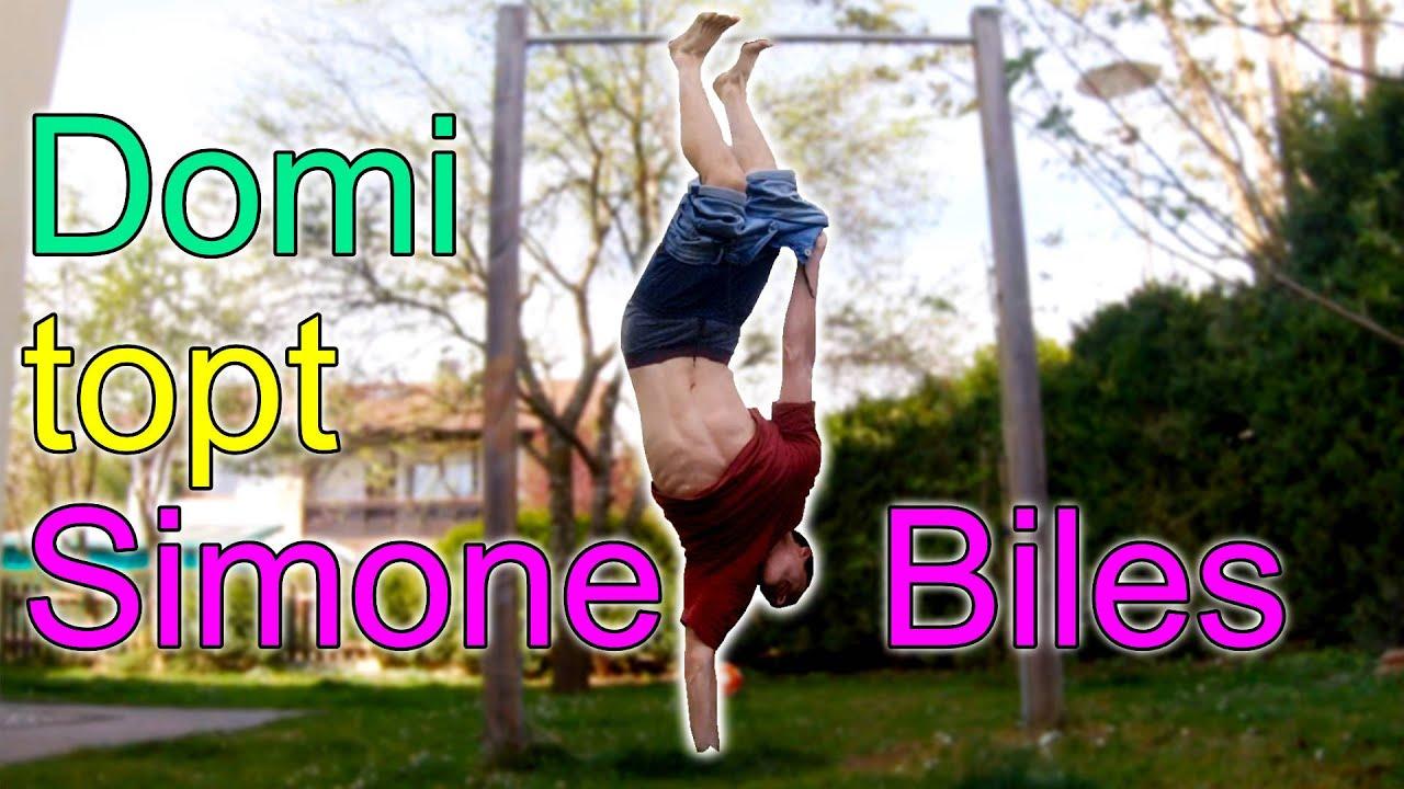Domi topt Simone Biles - Hose auszieh Challenge :D