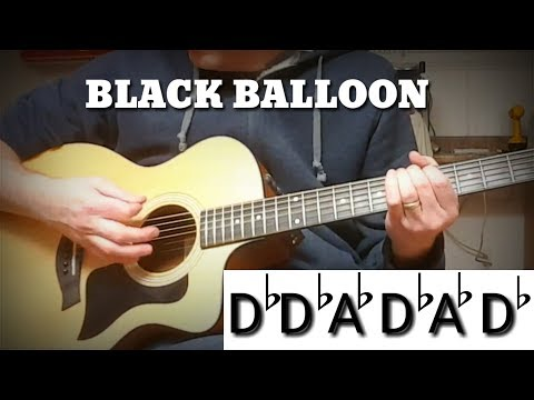 Black Balloon Open Tuning Acoustic Cover Goo Goo Dolls