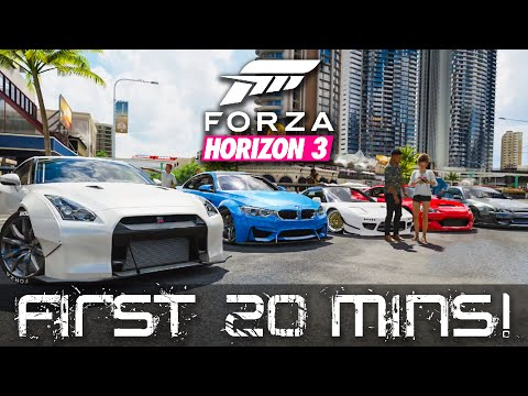 Forza Horizon 3 EXCLUSIVE Full Game Gameplay - First 20 Minutes, Cliff Jump, Drifting, Widebody!