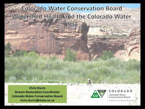 Chris Sturm CWCB CO H2O Plan