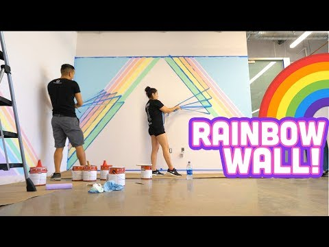 RAINBOW WALL at the NEW OFFICE! D.I.Y