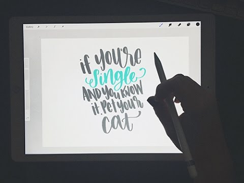 Ipad Pro Amp Apple Pencil Hand Lettering Review Youtube
