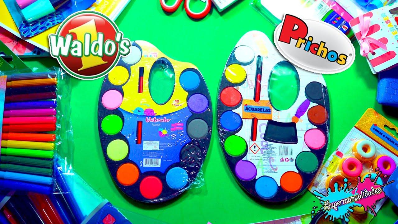 Comparando útiles escolares Waldo's VS Prichos - Supermanualidades