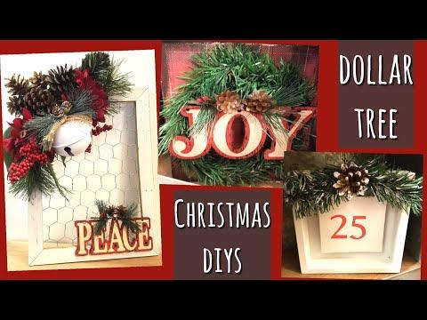 DOLLAR TREE CHRISTMAS DIYS!! FARMHOUSE CHRISTMAS!!!