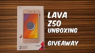 Lava Z50 Unboxing, Hands on, Camera, Android Go Apps - GIVEAWAY ANNOUNCEMENT