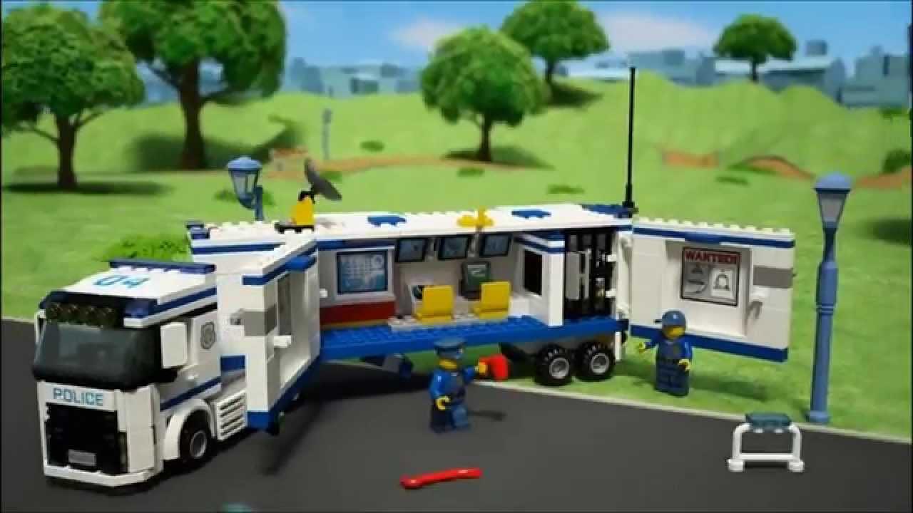 Cami n unidad m vil de polic a city 60044 lego youtube - Lego camion police ...