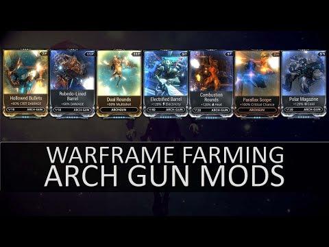 Warframe Farming - Mods For A Basic Arch Gun Build thumbnail