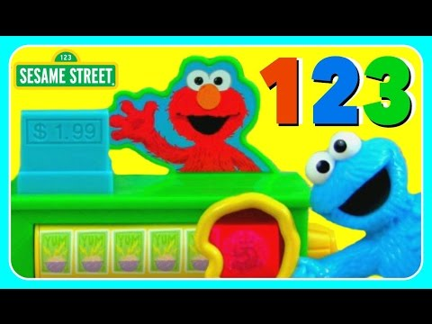 Learn Numbers 123 with Cookie Monster & Elmo! Sesame Street Discover 123s With Cookie Monster Playse