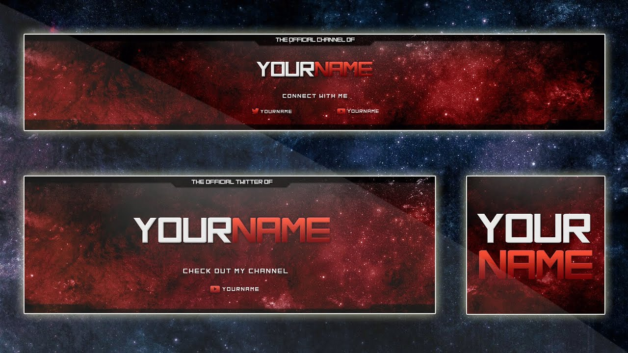 best banner template 2015 custom colors psd youtube