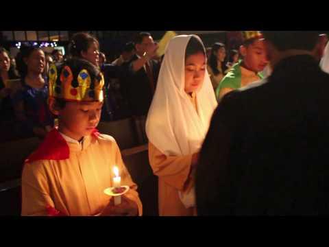Lagu Malam Kudus Ibadah Natal, 24 Desember 2016, Jam 19.00 Di HKBP Serpong
