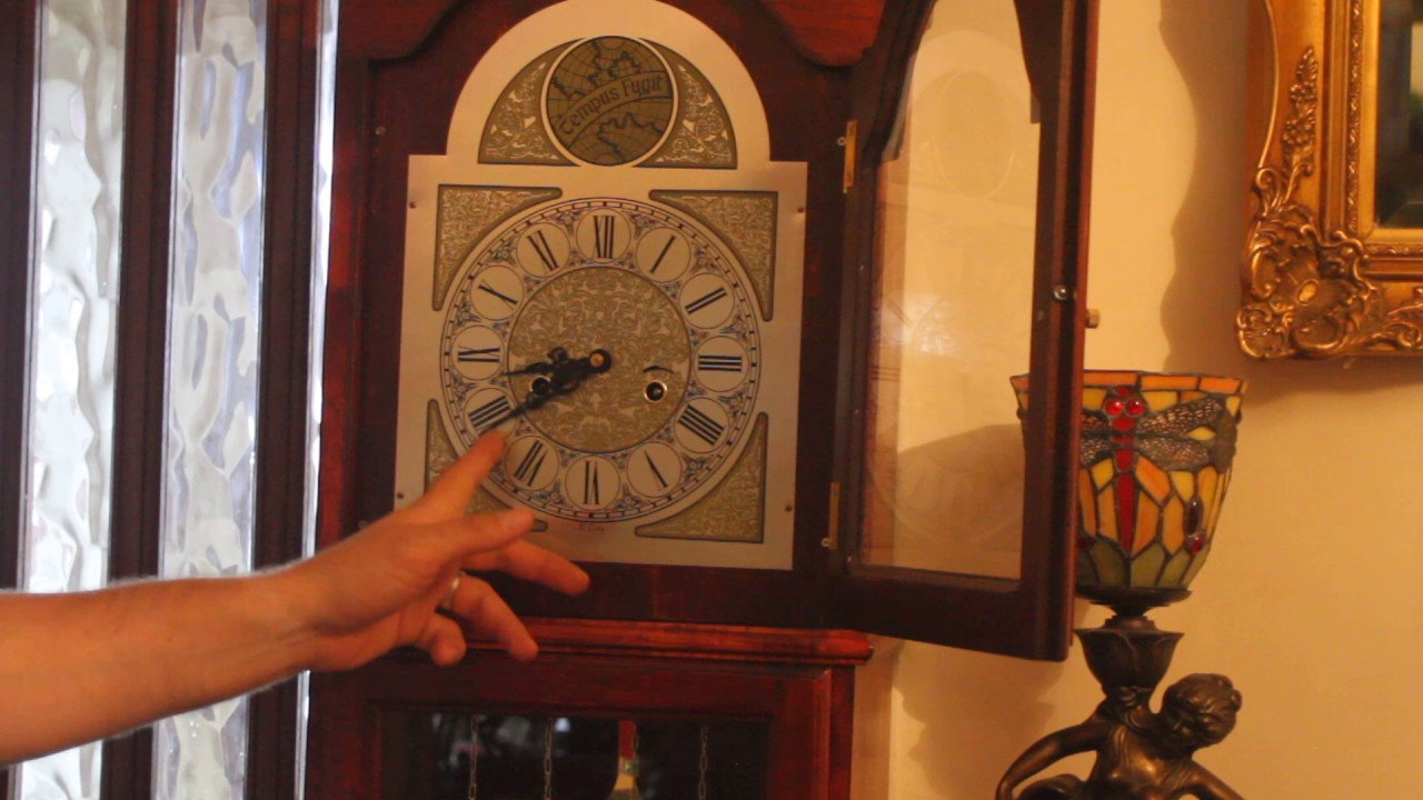 Vintage tempus fugit grandfather clock youtube vintage tempus fugit grandfather clock amipublicfo Image collections