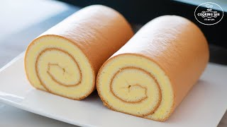 How to make swiss roll cake / Basic roll cake Recipe / Easy roll cake
