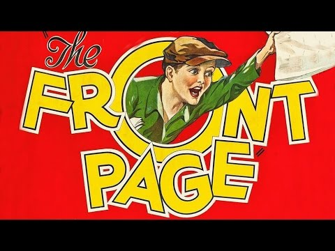 THE FRONT PAGE 1931 Widerscreen  Full Length  Hilarious Hildy