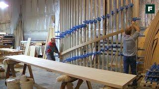 Производство деревянных лестниц  // FORUMHOUSE(Сегодня мы побываем на производстве деревянных лестниц и увидим, из каких этапов состоит создание этого..., 2015-11-05T09:09:21.000Z)
