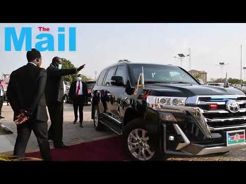 President Kiir in Juba international airport to receiving the Sudanese President Al-Burhan  3/3/21