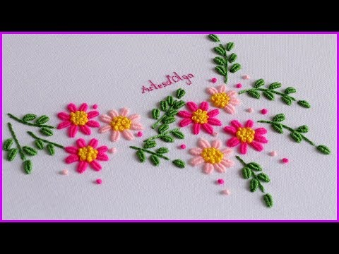 Hand Embroidery: Brazilian Embroidery  Bordado a Mano: Bordado Brasileño  ArtesdOlga