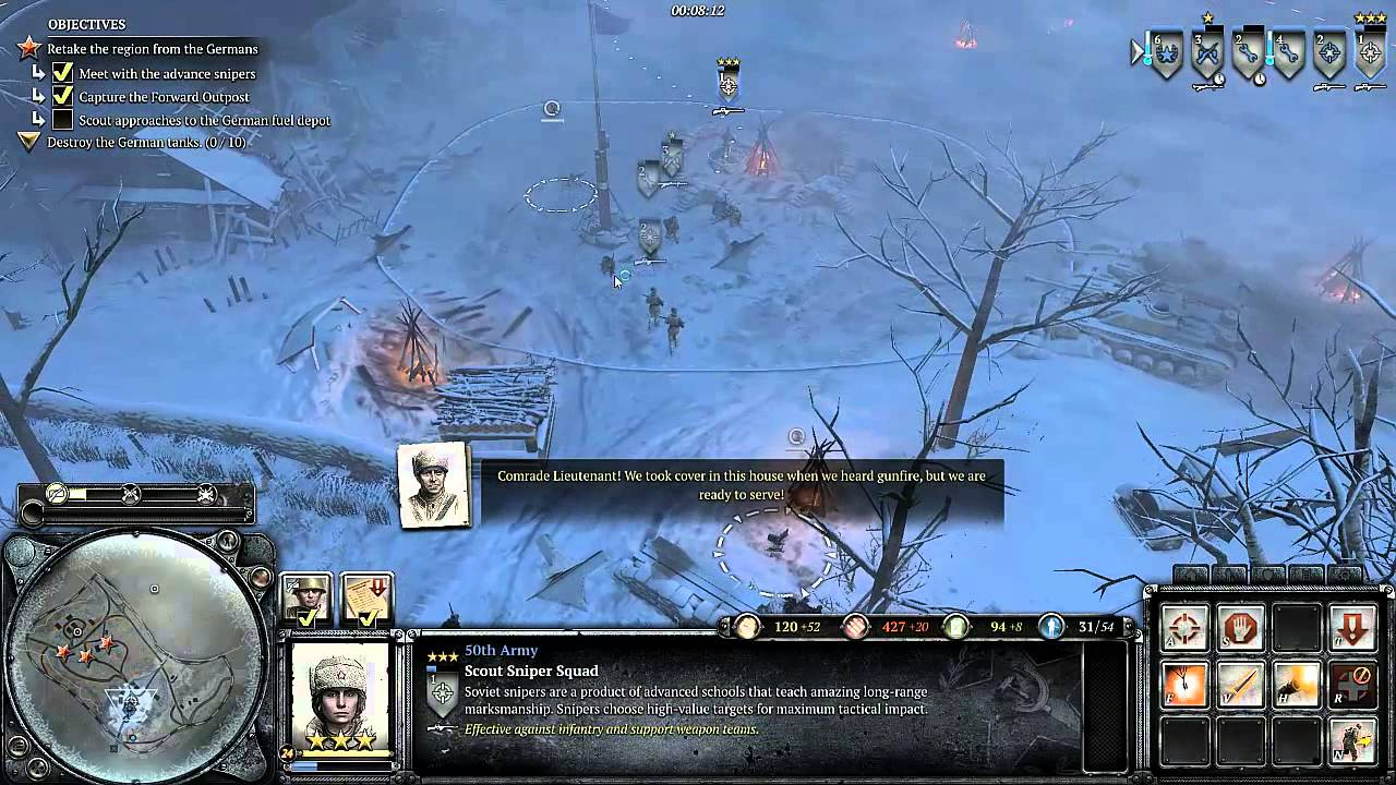 Company Of Heroes 2 Mission 4 The Miraculous Winter Youtube