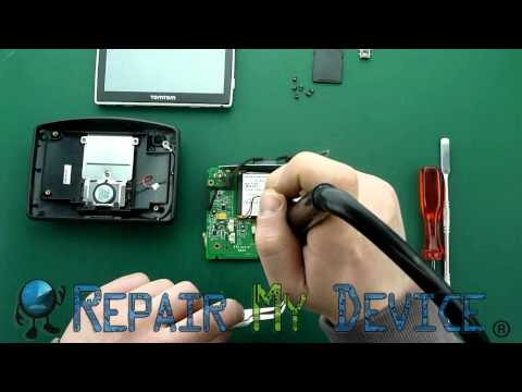 tomtom go 530, 730, 930 charging connector replacement instruction - youtube
