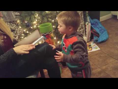 Zach Attack: Zachary opening Christmas Presents!