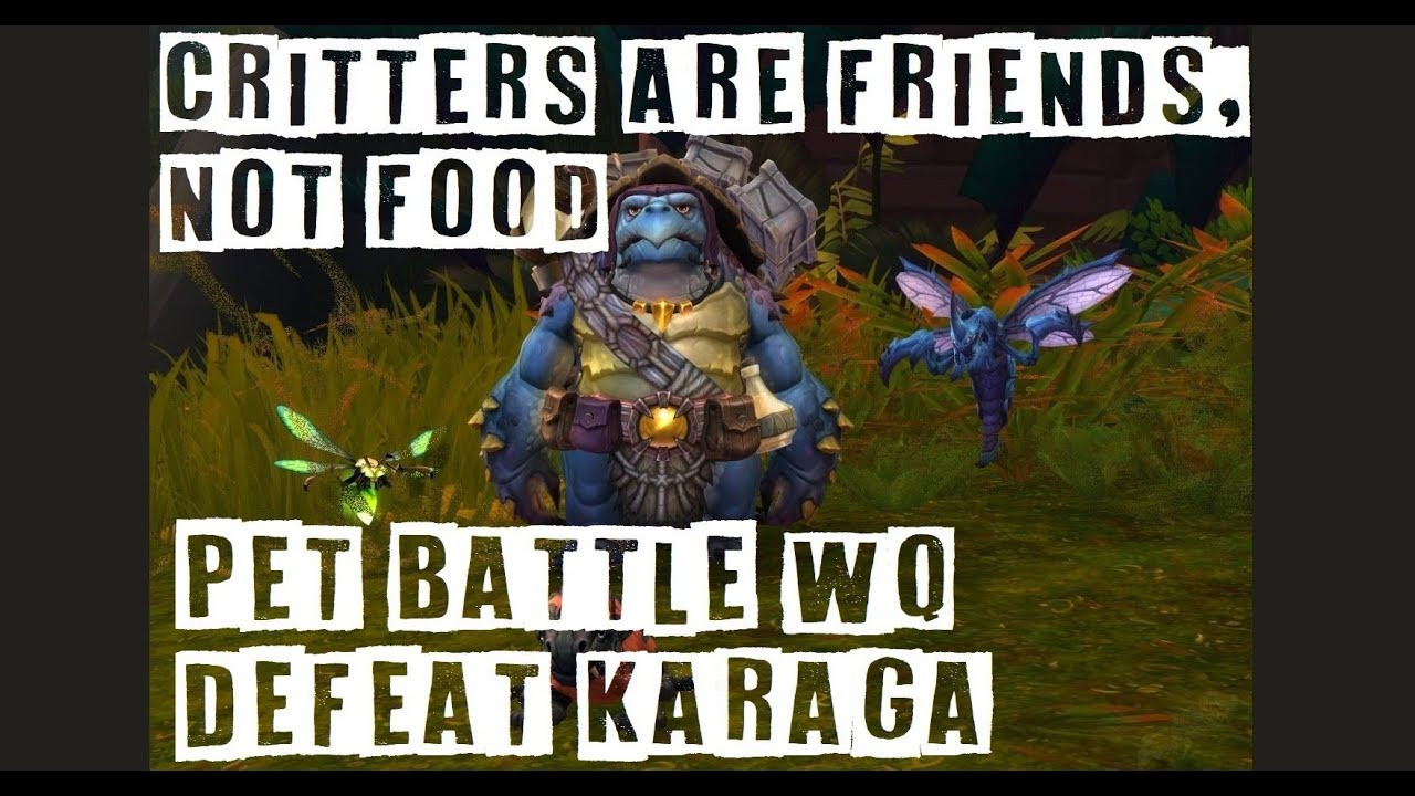 critters are friends not food